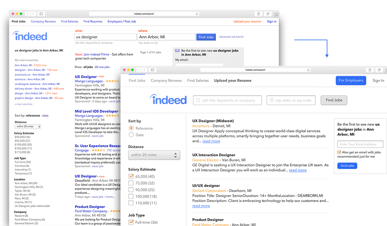 Project - Indeed Redesign